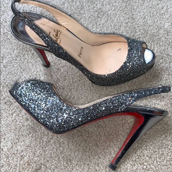 Christian Louboutin Shoes - Christian Louboutin Numero Prive 120 Glitter Pumps